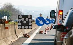 Abweichung auf der Autobahn Stockbilder