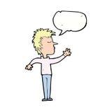 abweisender Mann der Karikatur mit Spracheblase Lizenzfreie Stockfotografie