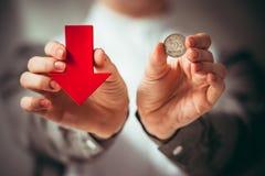 abwertung Lizenzfreies Stockfoto