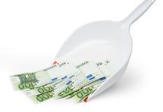 Abwertung von Euro Stockfoto