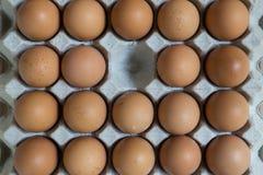 Abwesendes Konzept: Ein Ei verschwindet von der Gruppe von Eiern Lizenzfreies Stockfoto