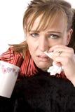 Abwischen der Wekzeugspritzenkrankfrau Stockbild