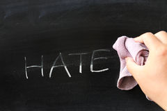 Abwischen weg vom Hass Lizenzfreie Stockbilder