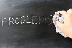 Abwischen weg von den Problemen Lizenzfreies Stockbild