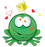 Żaby kreskówka na białym tle Zdjęcia Stock