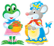 żaby mysz Obrazy Stock