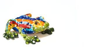 żaby odosobniony mozaiki biel Obraz Stock