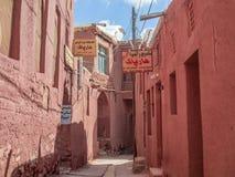 Abyaneh alei czerwony krzyż Zdjęcie Stock