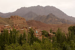 Abyaneh-Bergstadt, der Iran Stockfotografie