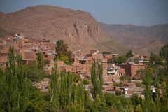 Abyaneh-Dorf in Isfahan-Provinz, der Iran Lizenzfreie Stockfotos