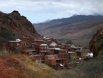 Abyaneh-Dorf in Isfahan-Provinz, eine von den ältesten im Iran Stockfotografie