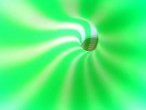 Abyss. Green and white striped siphon Stock Photo