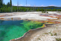 Abyss Pool of Yellowstone Stock Image