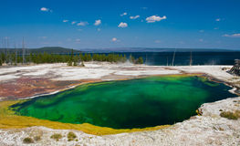 The Abyss Pool in Yellowstone National Park Royalty Free Stock Photo