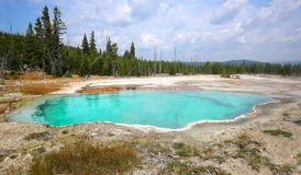 Abyss Pool in Yellowstone Park Royalty Free Stock Photo