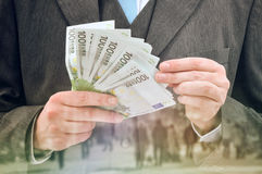Abzahlungsdarlehen in bar Lizenzfreies Stockfoto