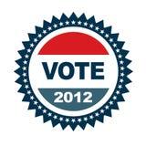 Abzeichen der Abstimmung 2012 Stockfoto