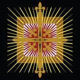 Abzeichen des keltischen Kreuzes stock abbildung