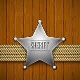 Abzeichen des Polizeichefs lizenzfreie abbildung