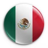 Abzeichen - mexikanische Markierungsfahne Stockbild