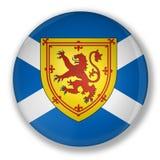 Abzeichen mit Markierungsfahne von Schottland Lizenzfreie Stockbilder
