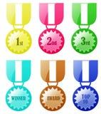 Abzeichen-Preis-Medaille Stockfotos