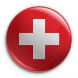 Abzeichen - Schweizer Markierungsfahne Stockbild