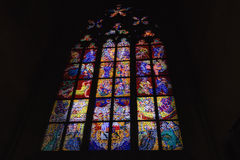 Abziehbild von St. Vitus Cathedral in Prag Stockfotos