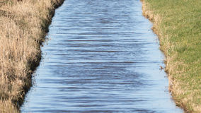 Abzugsgraben und Wiesen im waterland Friesland, selektiver Fokus Lizenzfreie Stockfotos