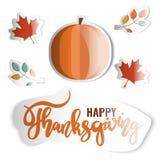 Acção de graças feliz Etiquetas do feriado ajustadas Imagem de Stock