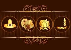 Acção de graças ornamentado. Imagens de Stock