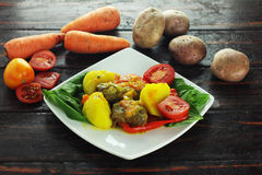 Acém com vegetais Fotos de Stock Royalty Free