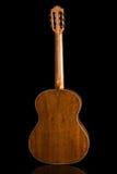 Acústico clásico de la guitarra hecho por Luciano Queiroz más luthier Foto de archivo