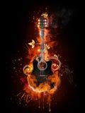 Acústico - guitarra eléctrica ilustración del vector