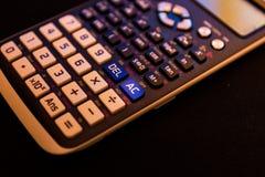 AC从一个科学计算器的键盘的所有还原键 免版税库存图片