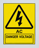 AC危险电压 库存图片