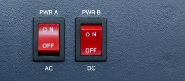 AC和直流电功率开关 库存照片