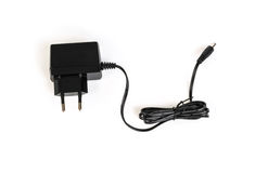 AC adapter on a white background  . Stock Photos