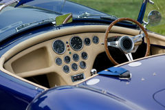 AC Cobra. Sports car, view of cockpit Royalty Free Stock Photography