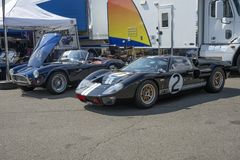 Ac cobra and ford gt 40 in display Stock Photography