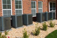 AC compressoreenheden stock foto's