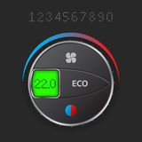AC control with editable lcd. Air condition control with editable lcd screen Royalty Free Stock Photos