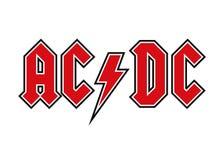 AC/DC λογότυπο διανυσματική απεικόνιση