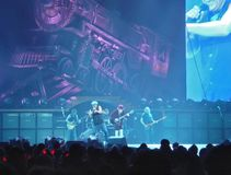 AC\DC in concert, Black Ice Tour, NYC Stock Image