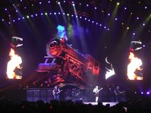 AC\DC in concert, Black Ice Tour, NYC Royalty Free Stock Photography