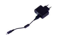 AC-DC USB-Adapter mit microUSB Seilzug Lizenzfreies Stockfoto