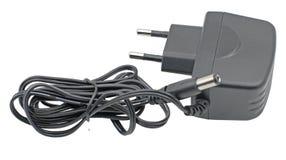 AC-/DCadapter auf Weiß Stockfoto