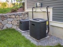 AC-heater unit. High efficiency modern AC-heater unit, energy save solution-horizontal stock photos