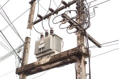 AC high-voltage power transformer. royalty free stock photos