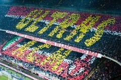 AC Milaan Ultras choreografie Stock Afbeelding